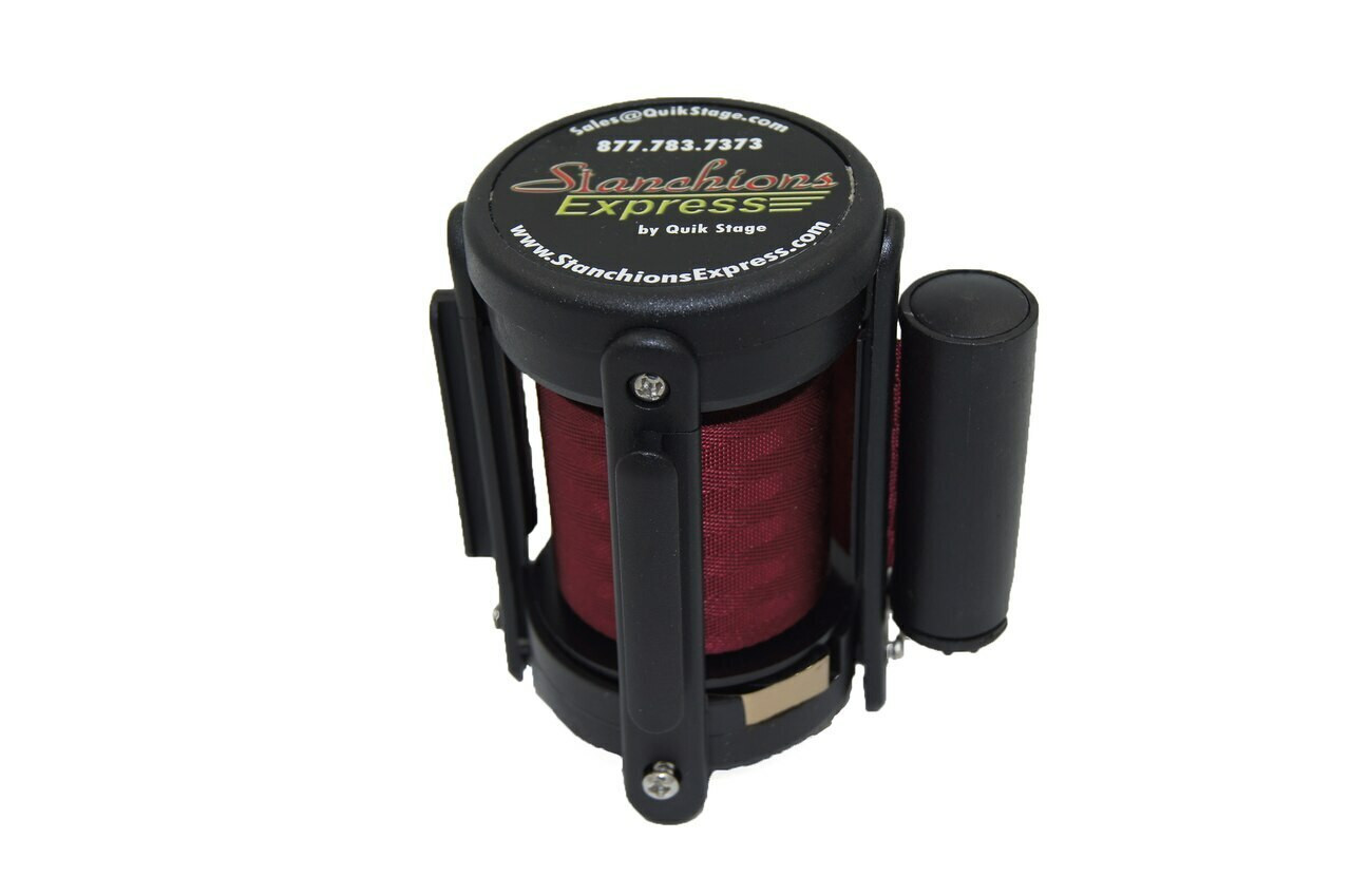 Closeout 6-pack Best Seller Burgundy 8' Replacement Retractable Belt Stanchion Cassette.