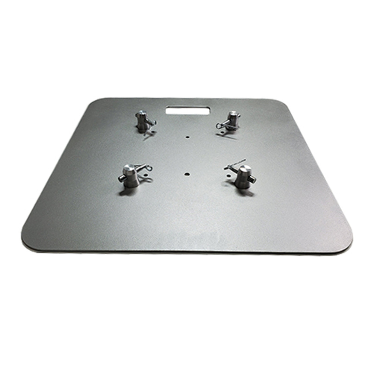 """Top Selling 24"""" x 24"""" Silver Steel Truss Base Plate. Fits Global Truss F23 F24 F33 F34 and Others. Shipping included! Main view."""