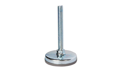 "Top selling Quik Stage 3/8-16 x 3"" Long Adjustable Screw Foot for Portable Stage Leg - Close up."