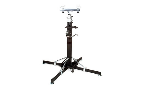 Top selling Global Truss ST-180 Heavy Duty Crank Stand or Lift with 4 Outriggers and truss adapter.