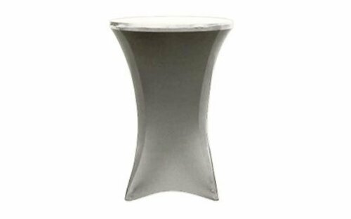 "Top selling 30"" Round x 42"" High Silver Spandex Cocktail Table Cover (other listing)"