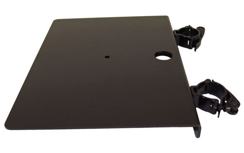 """Best seller 12 1/2"""" x 17"""" Black or Silver Flat Truss Shelf with Truss Clamps. Fits Global Truss F44P."""