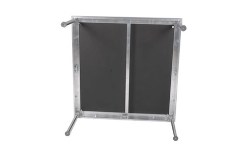 "Best selling Quik Stage 3' x 4' x 8"" High Portable Stage Deck with Black Polyvinyl Non-Skid Surface. Additional Heights and Surfaces Available. Bottom view."