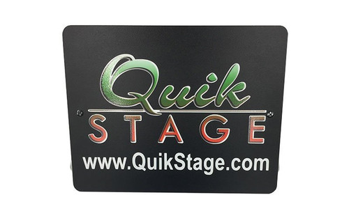 Best selling Silver Sign Plate for Quik Stage Truss Podium or Lectern- with Quik Stage Logo