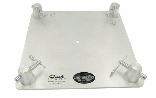 "Top Selling. 12"" x 12"" Aluminum Truss Base with 6"" Speaker Mount. Top Plate Only."