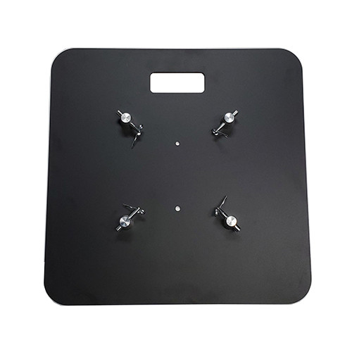 "Best value 24"" x 24"" Best Value Black Steel Truss Base Plate. Fits Global Truss F23 F24 F33 F34 and Others. Shipping included! Top view."