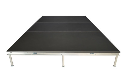 Best reviewed Quik Stage 8' x 12' High Portable Stage Package with Black Polyvinyl Non-Skid Surface. Additional Heights and Surfaces Available -Side view