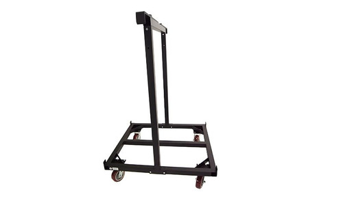 End view of our top selling Quik Stage 10-Deck Portable Stage Vertical Storage Cart for 4 x 4 Stage Decks.