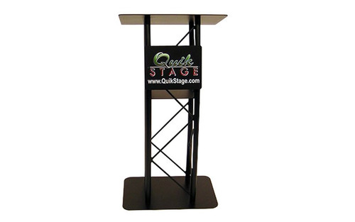Best Selling Black Sign Plate for Quik Stage Truss Podium or Lectern- Lectern View
