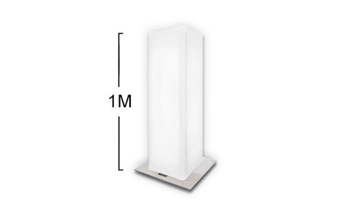 """Best Selling 1 Meter (3.2 Feet) x 12"""" White Pull Over Spandex Truss Cover or Stretch Shape for Truss Totems (other listings)"""