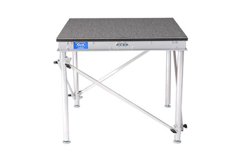 """Quik Stage 3' x 4' x 24"""" High Camera Platform or Riser with Diagonal Cross Bracing. Front View"""
