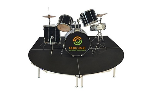 """Best rated Quik Stage 6' x 8' x 8"""" High Round Front Drum Riser Package - Shown without skirting."""
