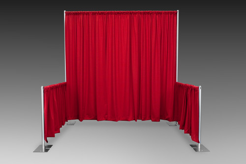8' Back Drop with 3' High Side Wings. Great for Trade Shows!