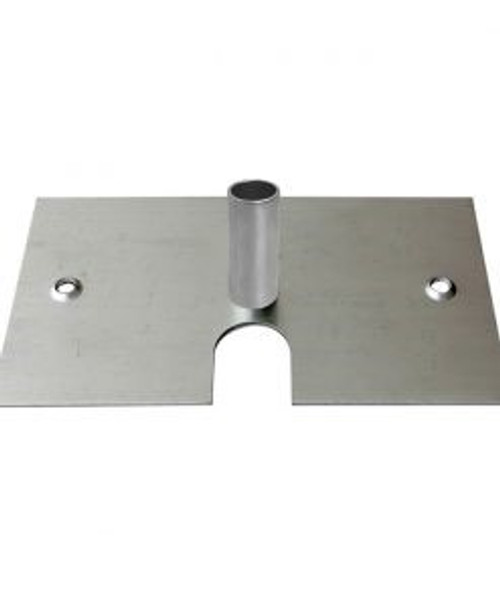 "8'' x 14'' Base Plate with 3"" high x 1 ½"" Diameter Hollow Pin"