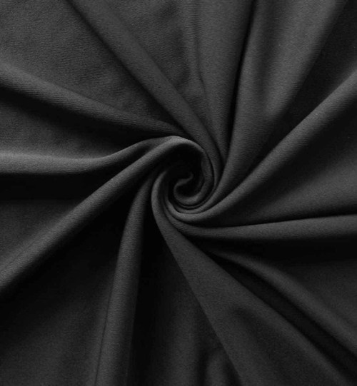 Best value 12' High X 5' Wide Black IFR Poly Stretch Rod Pocket Pipe and Drape Drapes- Closeup