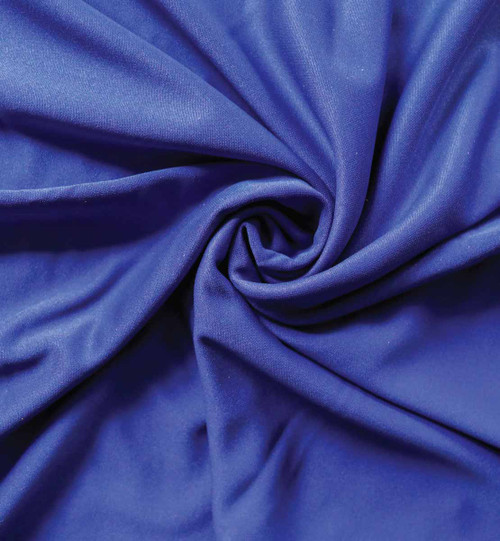 Top rated 12' High X 5' Wide Expo Blue IFR Poly Stretch Rod Pocket Pipe and Drape Drapes