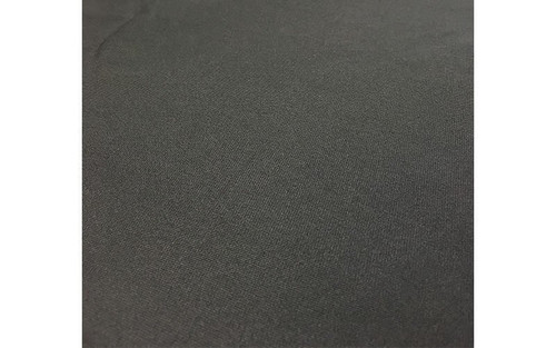 Best value 8' High X 5' Wide Black IFR Poly Premier Rod Pocket Pipe and Drape Drapes- Closeup