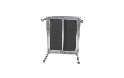 "Best selling Quik Stage 2' x 2' x 8"" High Portable Stage Deck with Black Polyvinyl Non-Skid Surface. Additional Heights and Surfaces Available."
