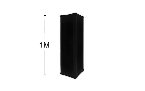 """Best Selling 1 Meter (3.2 Feet) x 12"""" Black Hook and Loop Spandex Truss Cover or Stretch Shape for Truss Totems (other listings)"""
