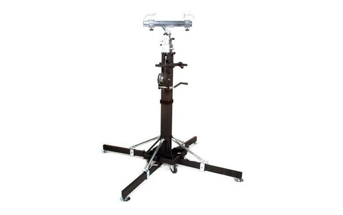 Best selling Global Truss ST-180 Heavy Duty Crank Stand or Lift with 4 Outriggers and truss adapter.