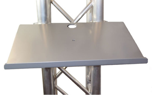 "Best seller 12 1/2"" x 17"" Black or Silver Angle Truss Shelf with Truss Clamps. Fits Global Truss F44P."