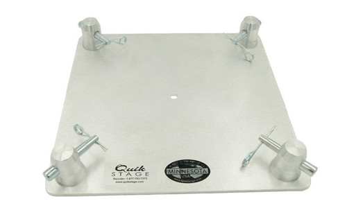 "Top Rated 12"" x 12"" Aluminum Truss Base or Top Plate. Fits Global Truss F34 SQ and Others. Front View."