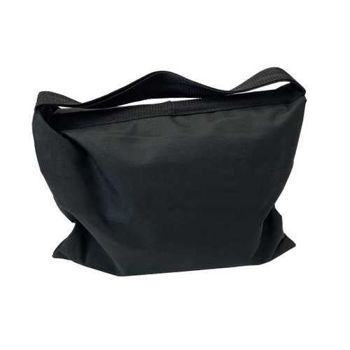 Saddlebag style sandbag is intended to be used anywhere weights are required as additional weight on pipe and drape or truss bases and more- Side