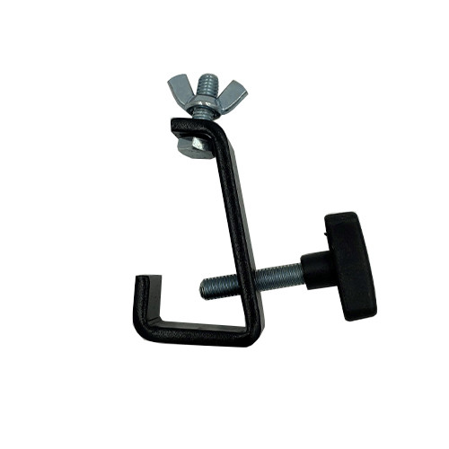 "Closeout Top Rated Black truss clamps that will fit up to 1"" truss"