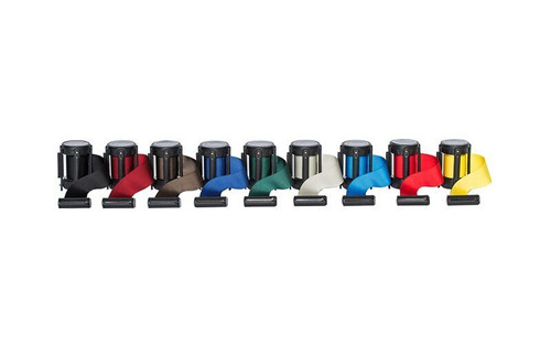 Closeout 6-pack Best Selling Replacement Retractable Belt Stanchion Cassettes with a 8' Belt. Available in 9 standard colors.