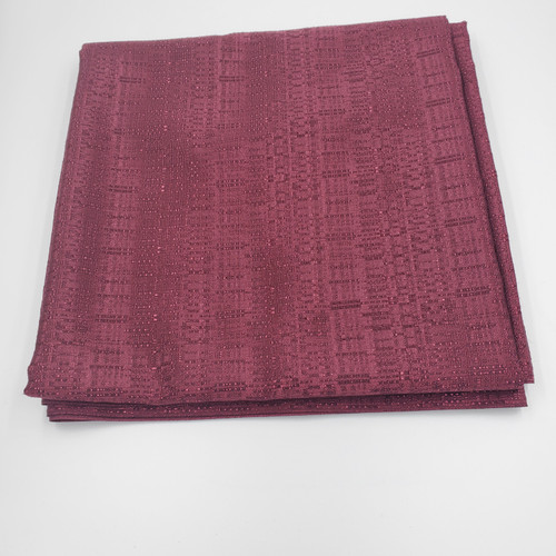 "Best rated Closeout!  8' High Burgundy Banjo Drape with 4"" Rod Pocket on Top and Bottom"