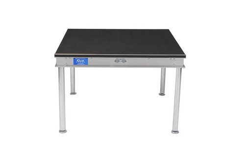 """Top selling Quik Stage 2' x 4' x 8"""" High Portable Stage Deck with Black Polyvinyl Non-Skid Surface. Additional Heights and Surfaces Available."""