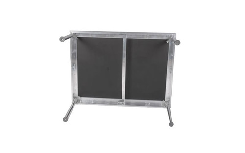 "Best selling Quik Stage 2' x 4' x 8"" High Portable Stage Deck with Black Polyvinyl Non-Skid Surface. Additional Heights and Surfaces Available. Bottom View."