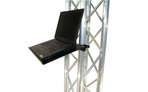 "Top selling 12 1/2"" x 17"" Black or Silver Angle Truss Shelf with Truss Clamps. Fits Global Truss F33/F34."