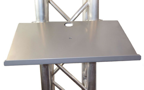 "Best selling 12 1/2"" x 17"" Black or Silver Angle Truss Shelf with Truss Clamps. Fits Global Truss F33/F34."