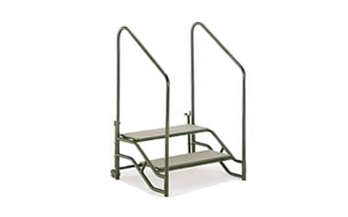 "Top Rated Quik Stage 2-Step Stair Unit with Removable Handrails. For 24"" High Stages"