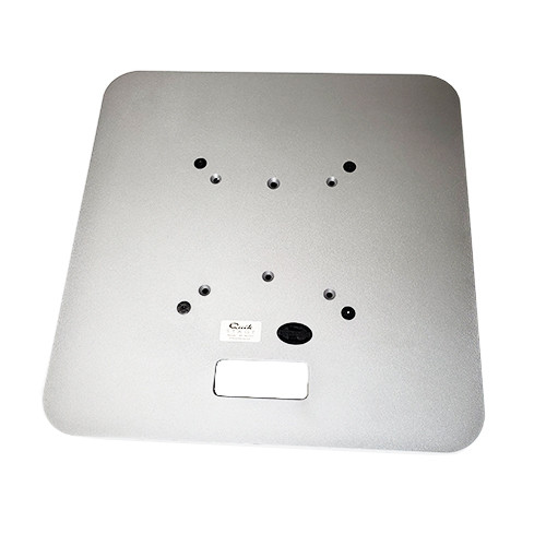 """Best rated 24"""" x 24"""" Silver Steel Truss Base Plate. Fits Global Truss F23 F24 F33 F34 and Others. Shipping included! Top view."""