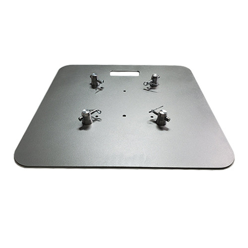 "Top Selling 24"" x 24"" Silver Steel Truss Base Plate. Fits Global Truss F23 F24 F33 F34 and Others. Shipping included! Main view."