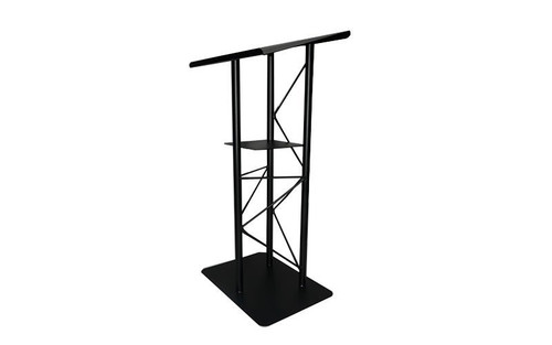 Top selling Lectern - Podium – Pulpit – Black 3 Post All Steel with Shelf. High Quality. Closeout. Shipping Included!