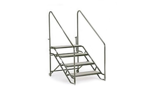 "Top selling Quik Stage 4-Step Stair Unit with Removable Handrails. For 40"" High Stages and Risers."