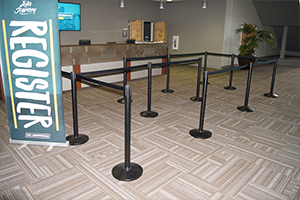 Retractable Crowd Control Belt Stanchions or Barriers
