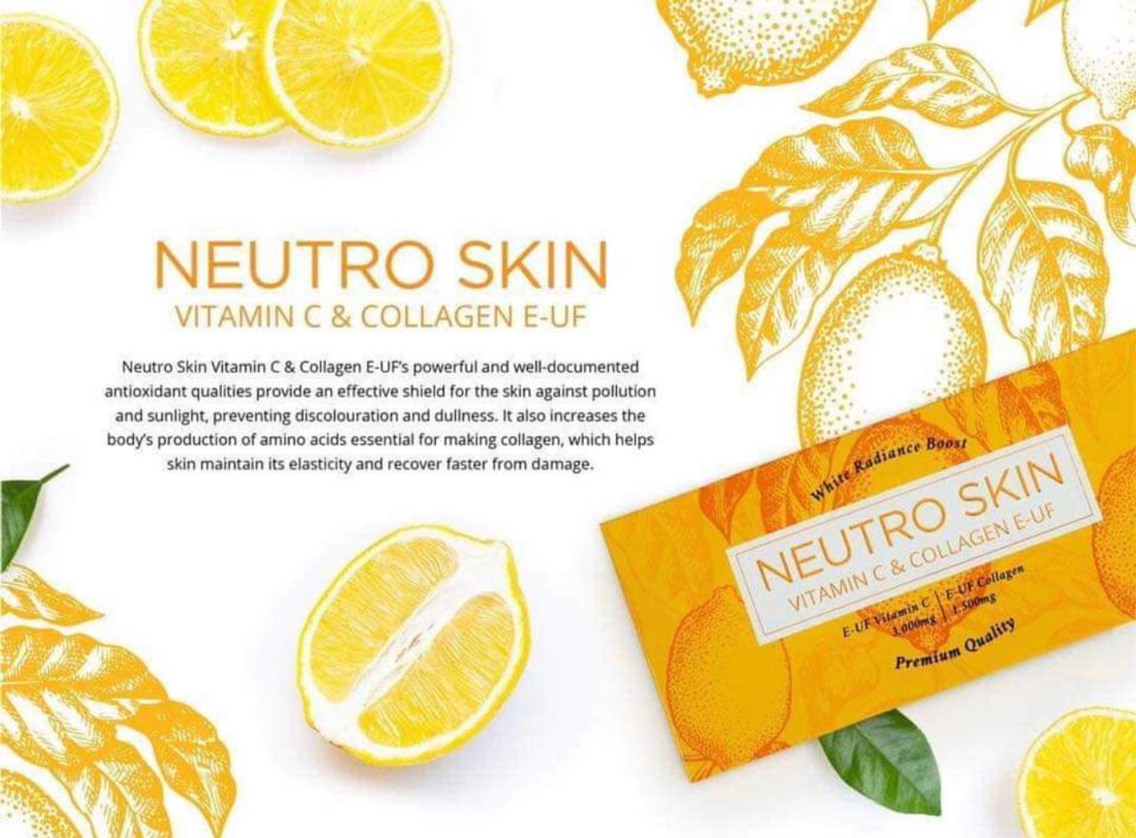 NEUTRO SKIN Vitamin C and Collagen E - UF Premium Quality