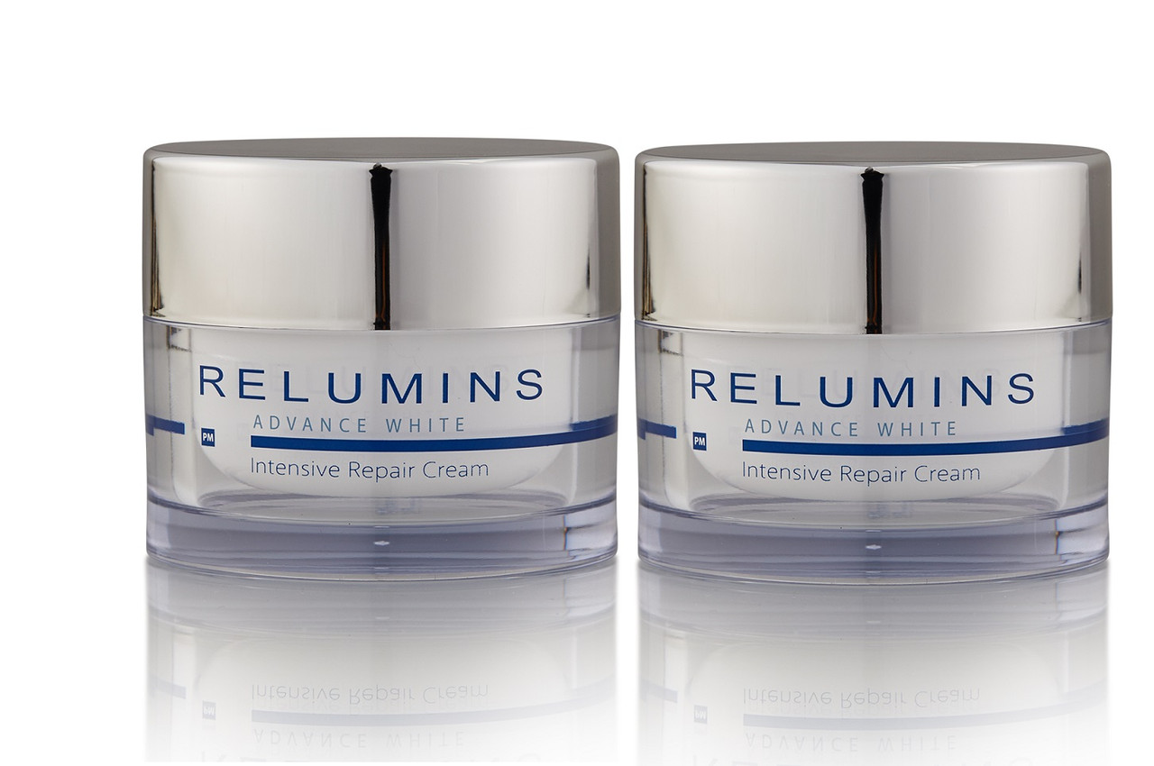 2x  Relumins Advance White Intensive Repair Cream PM with Advanced Ingredients for Glass Skin & Glow