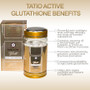 2x TATIO ACTIVE Gold 1850mg L-Glutathione Skin Whitening/Bleaching Capsules