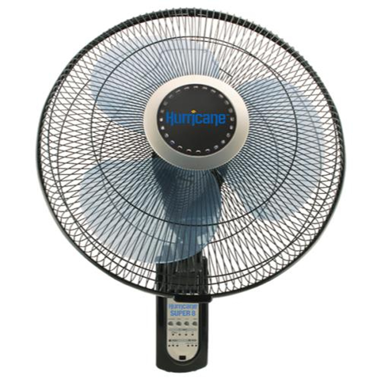 Hurricane Super 8 Oscillating Wall Mount Fan W Remote 16in Nhs Hydroponics
