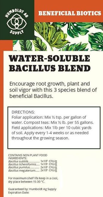 Humboldt Ag Supply:  Bacillus Blend 1lb