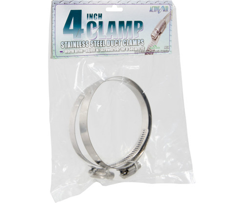 """Stainless Steel Duct Clamps, 4"""""""
