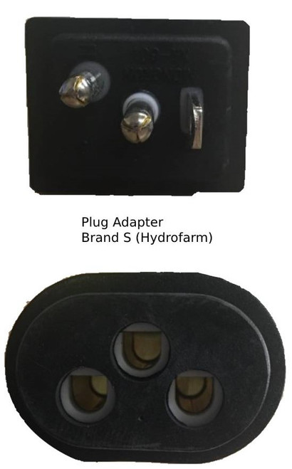 The two ends of this adapter
