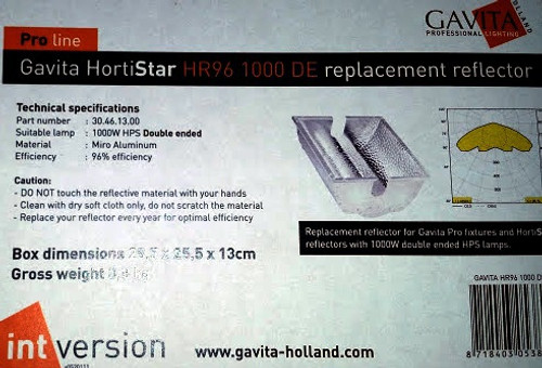 Gavita Hortistar HR96 600SE Replacement Reflector (Metal only)