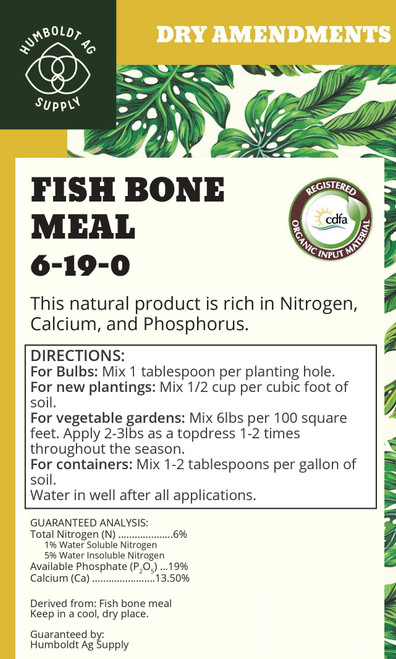 Humboldt Ag Supply:  Fishbone Meal 40lb (6-19-0)