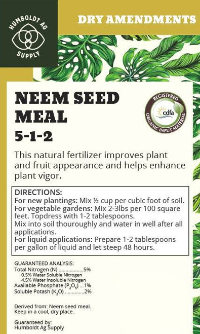 Humboldt Ag Supply: Neem Seed Meal 44lb (5-1-2)